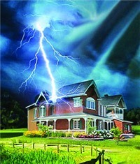 Молниезащита зданий, молниеприемник г.Мурманск